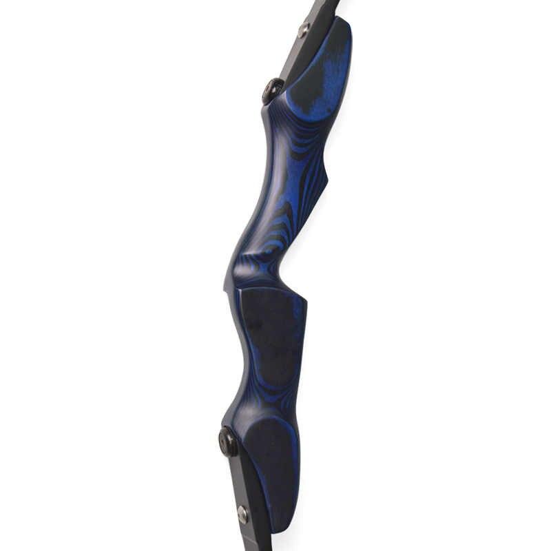17 pulgadas arquería ILF arco recurvo elevador desmontaje Longbow mango de madera RH/LH mano recurvo arco caza tiro accesorios
