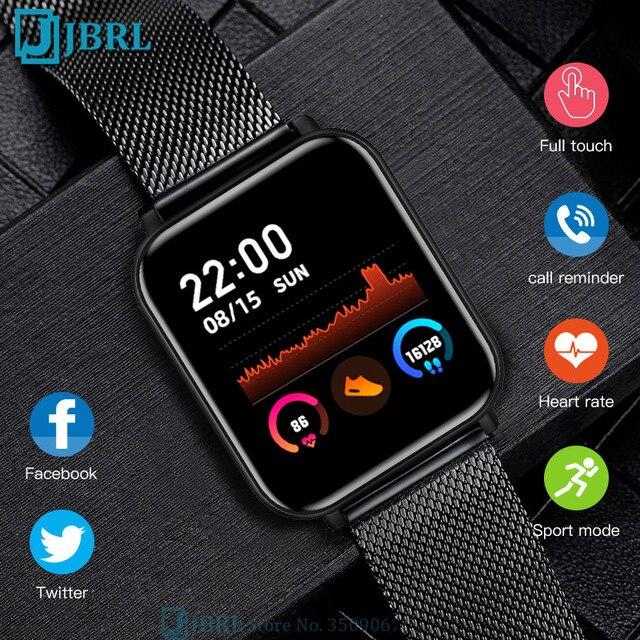 W pełni dotykowy inteligentny zegarek kobiety mężczyźni inteligentny zegarek elektronika inteligentny zegar dla Android IOS opaska monitorująca aktywność fizyczną Sport Bluetooth inteligentny zegarek