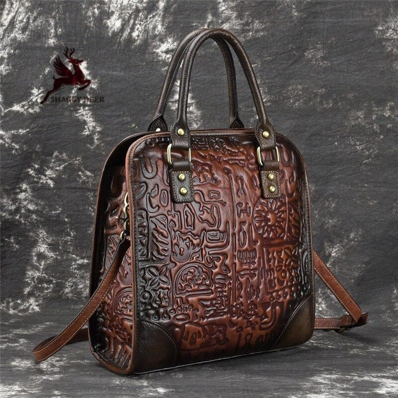 Модные Винтажные Разноцветные квадратные женские сумки из натуральной кожи с тиснением в виде букв, новинка 2019, сумки на плечо - 5