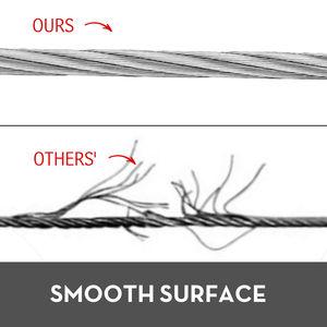 Image 5 - VEVOR 304 кабель из нержавеющей стали 0,18 дюймов 7X19 стальная проволочная веревка 100 футов стальной кабель для перил настил DIY балюстрада