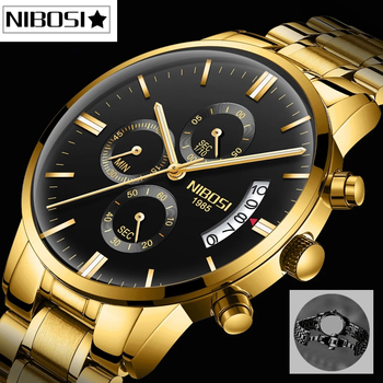 NIBOSI Relogio Masculino Men Watches Top Brand Luxury Waterproof Automatic Quartz Male Clock Chronograph Business Men Watch image