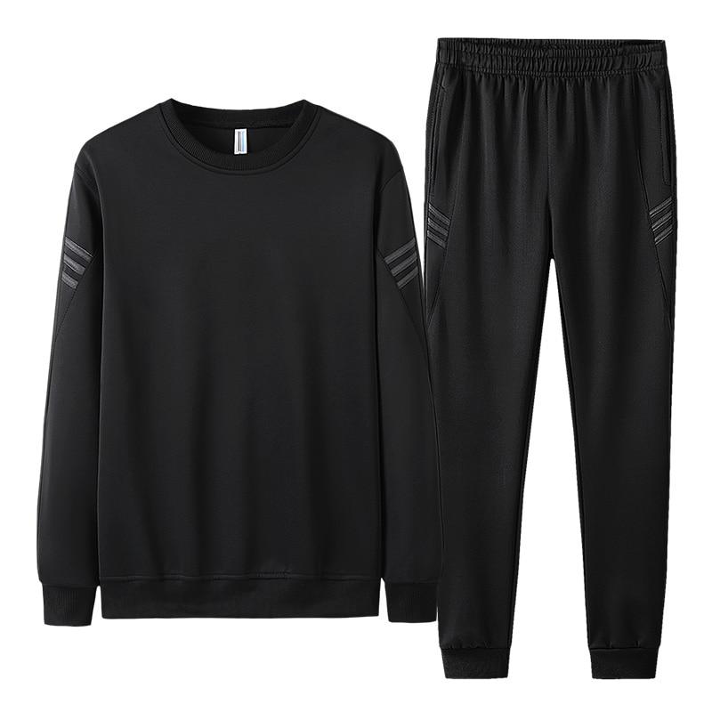 AIOPESON 2019 Autumn Tracksuit Men Fashion Casual Sportswear Slim Fit O-Neck Hoodies + Jogger Pants Men Sweat Suits 21