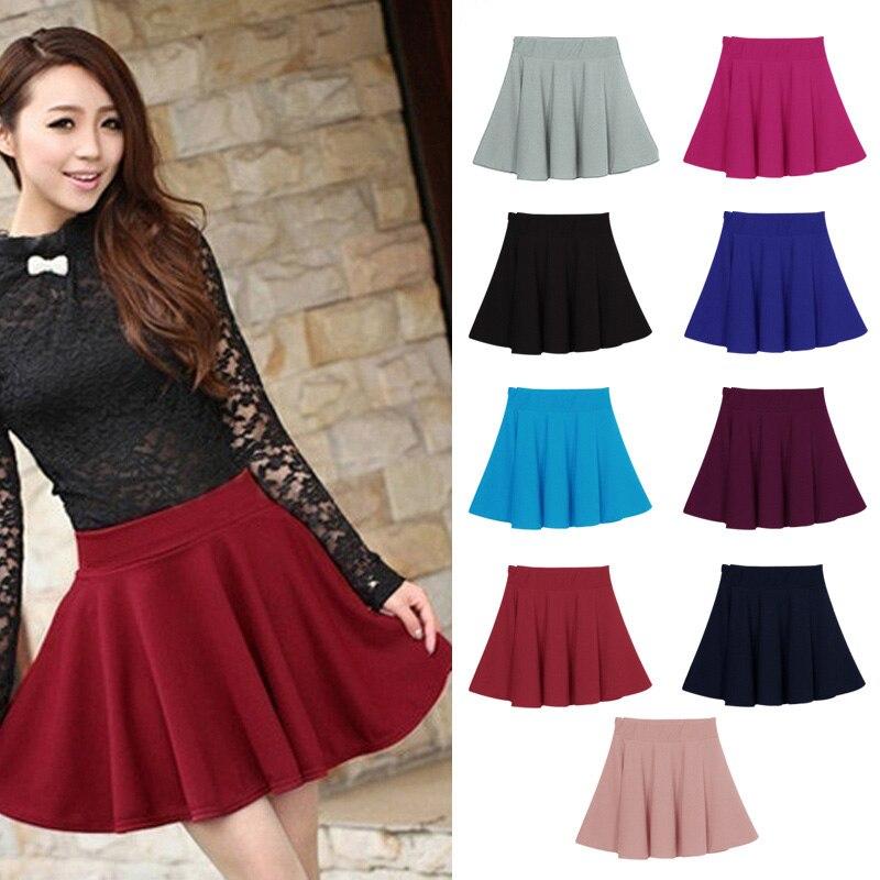 Hot Sales Droppshiping New Women Skirt Sexy Mini Short Skirt Fall Skirts Womens Stretch High Waist Pleated Tutu Skirt Dg88
