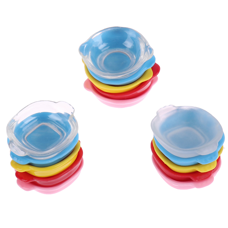 3Pcs 1/12 Scale Resin Colorful Miniature Dollhouse Dish Plate Pretend Play Kitchen Cooking Toy Set Accessories