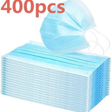 200 / 400pcs Elastic Hanging Breathable Health Mask Disposable Gauze Hygiene Mask 3 Filter Layers Anti-pollution Masks
