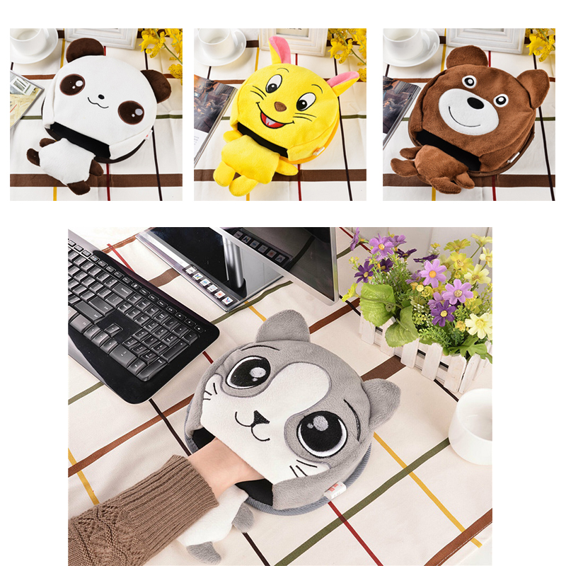 Hot USB Heated Mouse Pad Mousepad Mat Warm Winter Mouse Mat USB Port Mause Hand Warmer With Wristguard For Computer Laptop