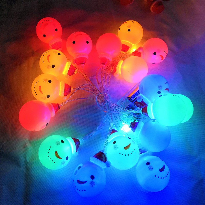 2M/3M Led Snowman Fairy String Lights Santa Claus Christmas Lights Family Garden Indoor Party Wedding Decoration Colorful Lights