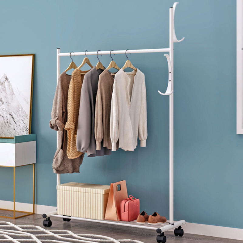 Clothes Hanger Coat Rack Floor Hanger Bedroom Hangers Simple Clothes Rack Household Hangers With Wheels Wardrobe