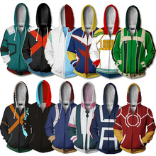 Japan Anime My Hero Academia Hoodie Cospaly Costume 3D Printed Sweatshirt Zip Up Hoodies Sweatshirts
