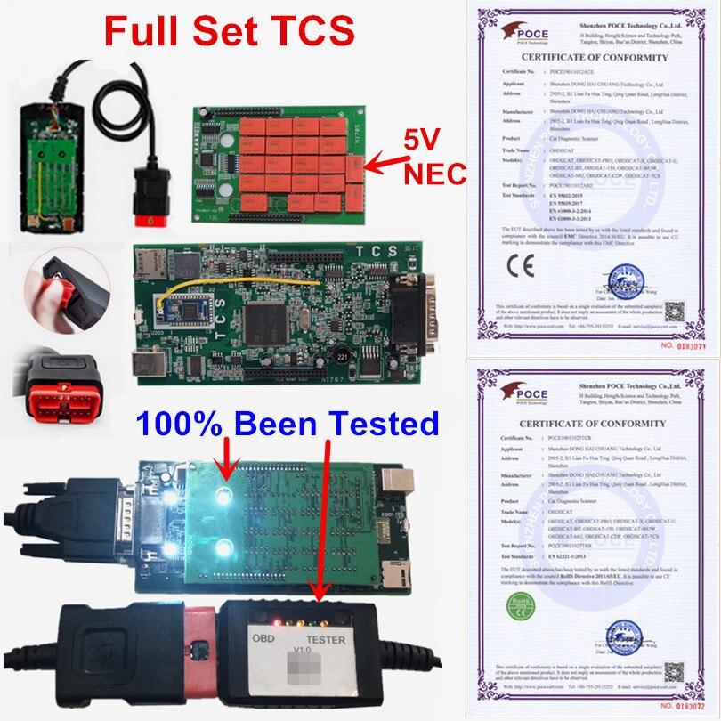 A + OBDIICAT TCS PRO WO--W pro Als Multidiag Bluetooth 2016R1 Keygen/2017,1 5V NEC 9241A Auto Lkw diagnose Werkzeug OBD2 Scanner