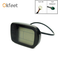 Okfeet KT LCD Ebike LCD5 عرض دراجة كهربائية دراجة 36 فولت 48 فولت LCD3 LED عرض ل دراجة كهربائية KT المراقب المالي-في ملحقات الدراجات الكهربائية من الرياضة والترفيه على