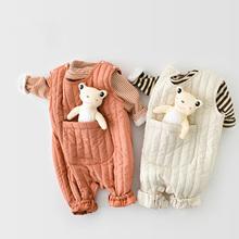 MILANCEL 2020 odzież dla niemowląt noworodka ubrania zimowe dziewczyny pajacyki maluch chłopiec kombinezon kamizelka niemowląt odzież wierzchnia bez rękawów tanie tanio COTTON CN (pochodzenie) Unisex W wieku 0-6m 7-12m 13-24m Stałe Dla dzieci O-neck Przycisk zadaszone Pełna MIL0927 Pasuje prawda na wymiar weź swój normalny rozmiar