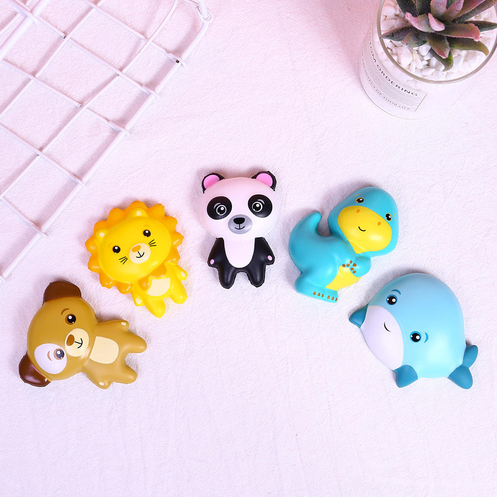 Squishy Toy Cartoon Animal Slow Rising Scented Stress Relief Sticker Toy For Phone/Notebook Kids Kawaii Squish Anti Stress W822
