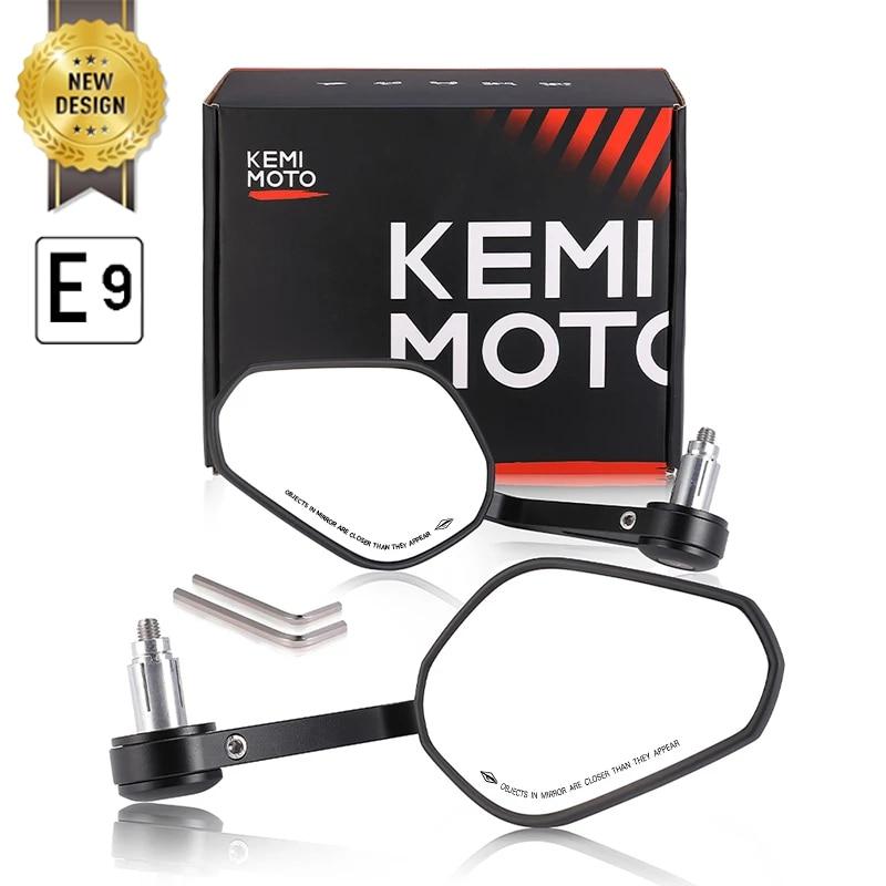 Espejo retrovisor para manillar de motocicleta, espejo retrovisor para Honda cb500x pcx msx 125 shadow r1200gs para Yamaha MT09 MT07