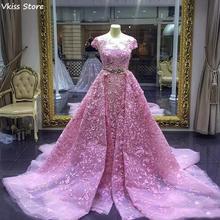 Вечернее платье с бисером 2020 бальное блестками глубоким v