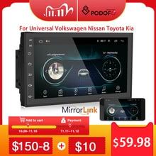 "Podofo 2 din autoradio 2.5D GPS lecteur multimédia Android universel 7 ""Navigation audio pour Volkswagen Nissan Hyundai Kia Toyota"