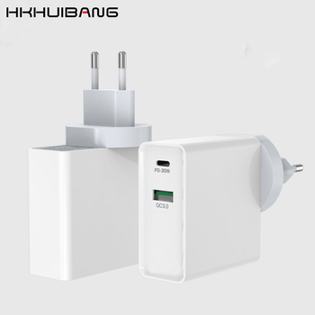 HKHUIBANG usb schnell ladegerät 3,0 QC 30w usb typ-c pd ladegerät adapter für iPhone X /Samsung s10/Xiaomi handy zubehör
