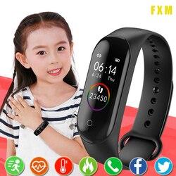 Relógio inteligente crianças relógios para meninas meninos esporte pulseira criança pulseira de fitness rastreador smartwatch à prova dwaterproof água