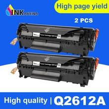 INKARENA 2pcs Q2612A q2612 12a 2612 Toner Cartridge 2612a For HP LaserJet 1010 1012 1015 1020 3015 3020 3030 1018 1022 1022N