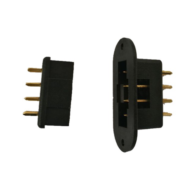 5/10 Pairs Gold Plated Black RC Accessories Servo connector MPX 8 pins connector plug for RC hobby Model Car Plane boat charger