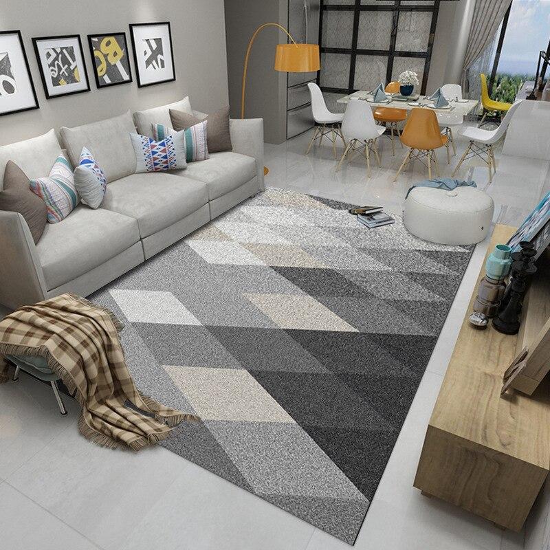 Image 4 - Нордический современный ковёр коврик для гостиной абстрактный геометрический деревянный пол ковер противообрастающий ковер для спальни гостиной Заводская поставка-in Ковер from Дом и животные