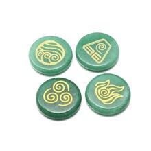Бусины из натурального камня круглые бусины зеленого авантюрина