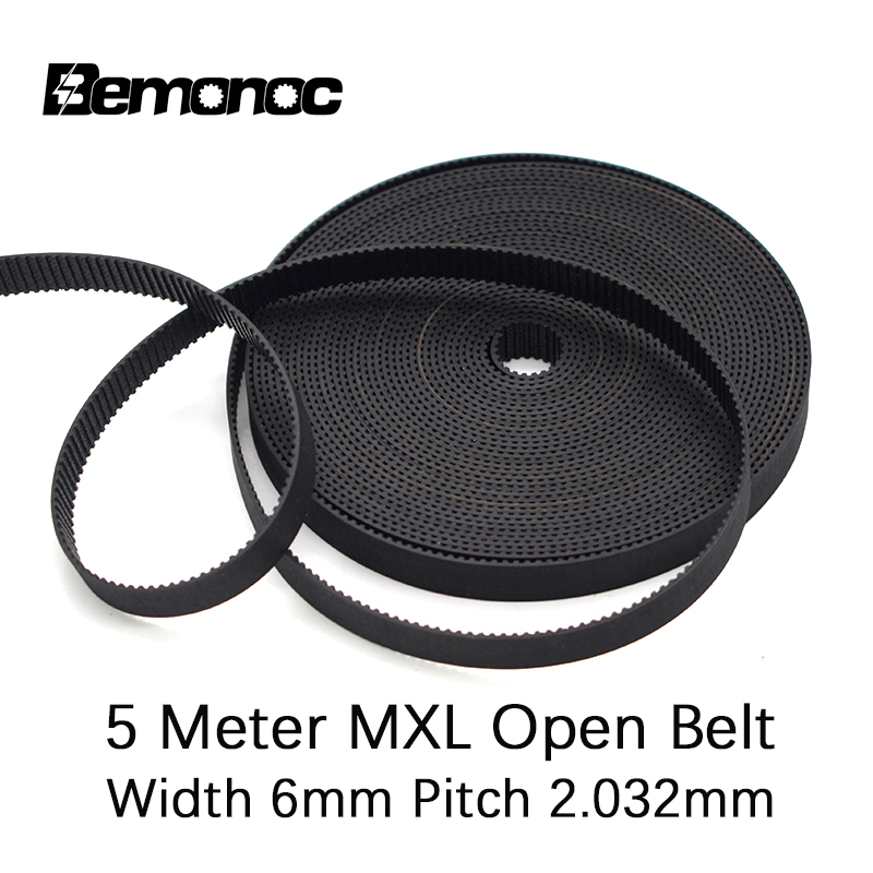 Bemonoc 5M <font><b>MXL</b></font> Open-Ended Timing <font><b>Belt</b></font> Transmission <font><b>Belts</b></font> Rubber Width 6mm For Fiber Pully CO2 Laser Engraving Cutting Machine image