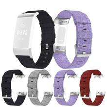 Penggantian Anyaman Kain Kanvas Wrist Band Strap untuk Fitbit Charge 4 Smart Watch Gelang Aksesoris Charge4 Gelang #603(China)