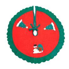 Популярные круглые складные юбки с принтом снеговика для рождественской елки, покрытие для пола, рождественские украшения для дома, рождественские принадлежности