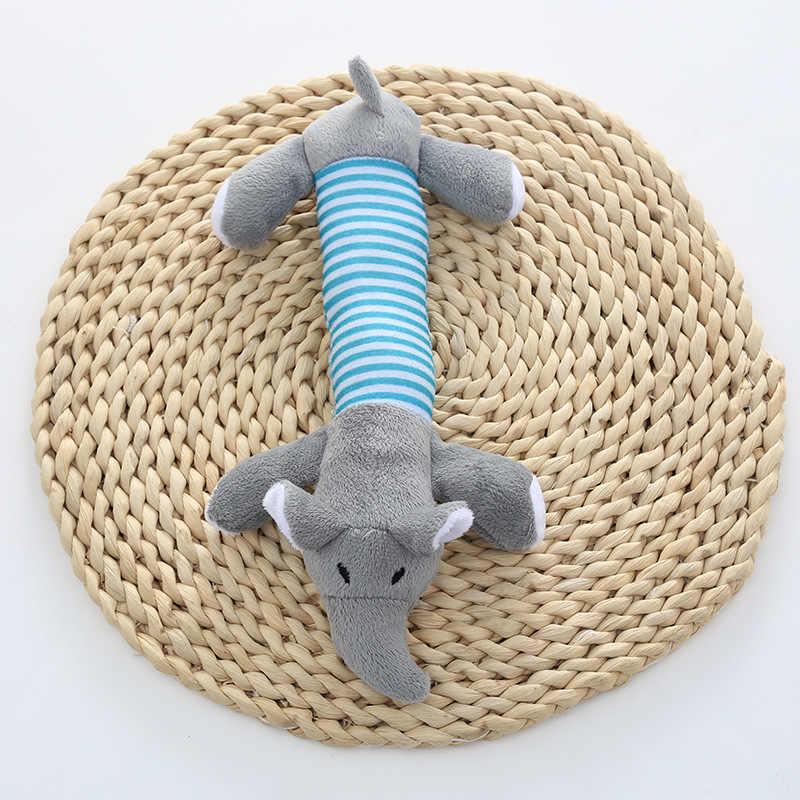 Perro de peluche de juguete Chew Squeak cerdo elefante pato juguetes de cuerda para mascotas cachorro de juguete de sonido de entrenamiento interativo tiro de recogida de hueso de juguete