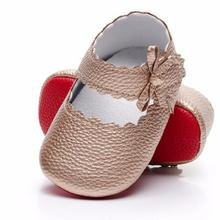Moccasins-Shoes Ballet Baby-Girls Princess New Jane Sole Red Soft Pu for 0-18M 7-Colors