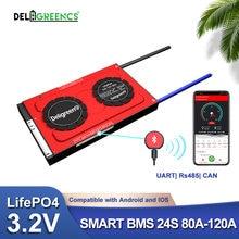 Smart bms 24s 80a 100a 120a 72v li fepo4 32 v Номинальный аккумулятор