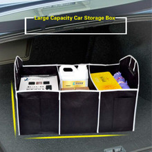 Car Trunk Organizer Folding Multi Pockets Large Capacity Storage Bag Box Container Accessories