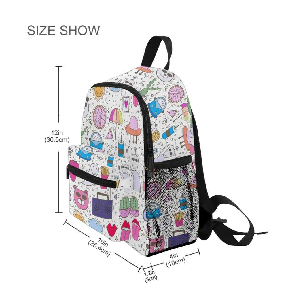 Alaza bonito saco escolar crianças sem costura jardim de infância pré-escolar saco dos desenhos animados para a criança adequado for3-8years velho mochila