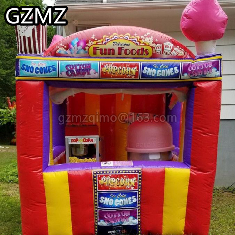 MZQM  portable inflatable food selling booth tent, inflatable snack booth for sale, inflatable trade show tent
