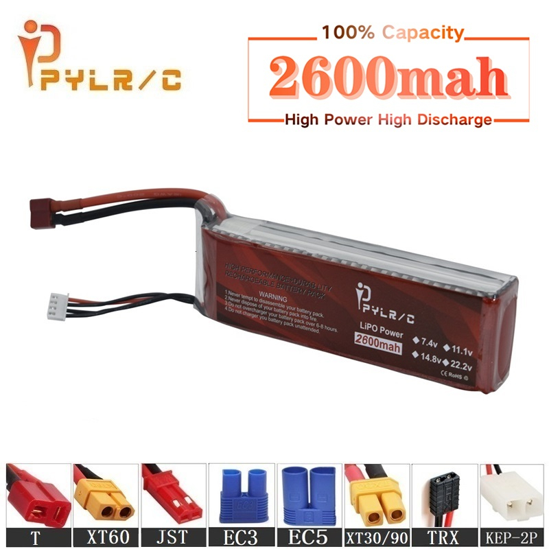 High Rate 11.1v 2600mAh Lipo Battery For RC Helicopter Parts 3s Lithium battery 11.1v 45C RC Cars Airplanes Drone Battery T/XT60(China)