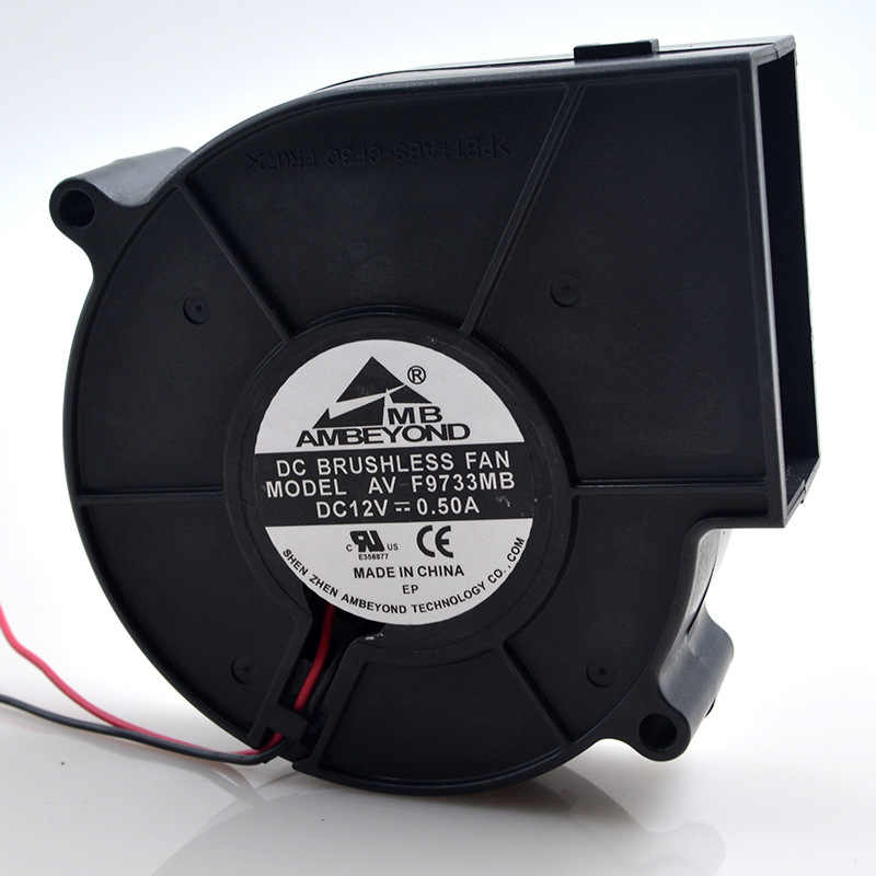 1pcs AMBEYOND AV-F9733MB 12V 0.50A 9733 BBQ Grill Violent Exhaust Blower Fan