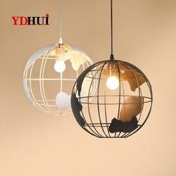 Retro-industriellen Stil Kreative Globe Einfache Restaurant Kinderzimmer Bar Tieyi Kronleuchter Individuelle Milch Tee Shop Lampen