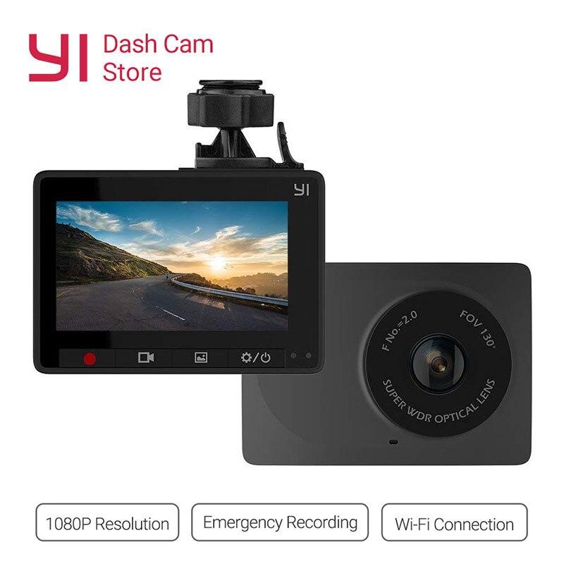 Yi compacto traço cam 1080p hd completa câmera do painel do carro 2.7 polegada tela lcd 130 wdr lente g-sensor de visão noturna loop gravador