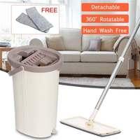 Mop mão livre do aperto liso e da cubeta que torce o uso do mop da limpeza do assoalho|Esfregão| |  -