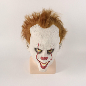 Scary Halloween pennywise mask Costume Stephen King IT 2 Scary Clown Mask Men's Cosplay Prop Children Toy Trick or treat gift king stephen it