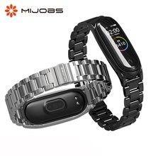 Correa de Metal para Xiaomi Mi Band 4 3, accesorios de acero inoxidable para pulsera inteligente
