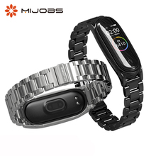 For Mi Band 4 Strap Metal Wrist Strap for Xiaomi Mi Band 4 Strap Band 3 Stainless Steel Bracelet Accessories Smart Wristbands