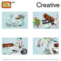 LOZ Mini Building Blocks Motorcycle Sheep  4