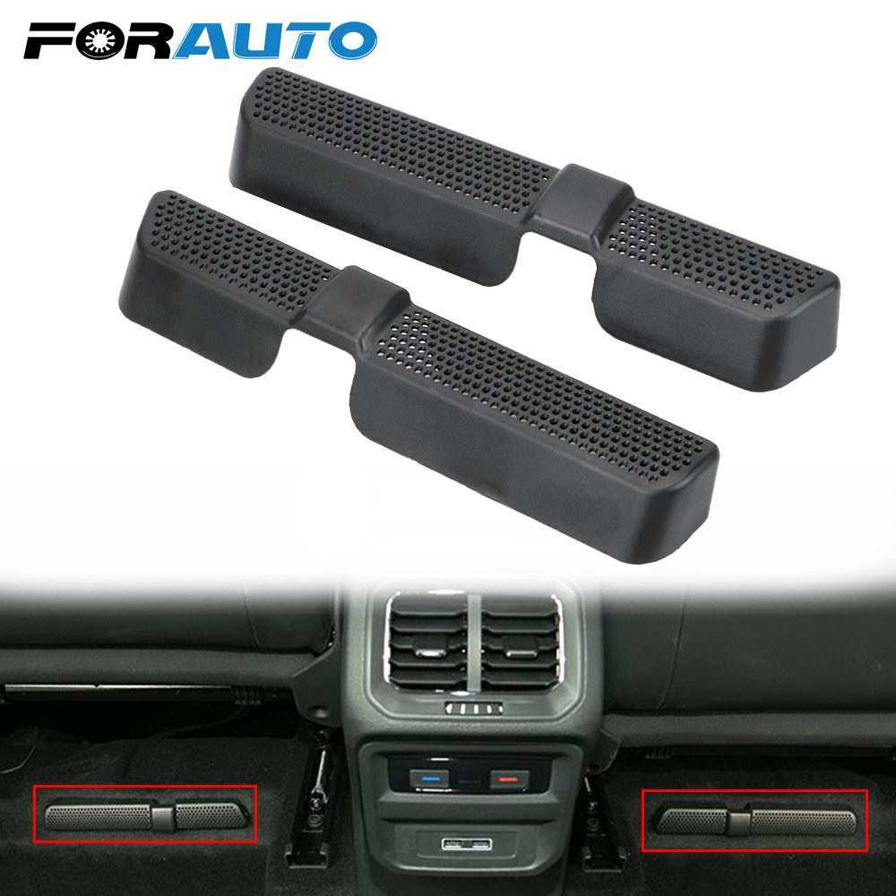 FORAUTO 2Pcs/Set Car Air Vent Cover Under Seat Air Conditioner Outlet Covers Protector For VW Volkswagen Touran 2016 2017 2018