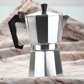 Italian Moka Espresso Coffeeware Mocha Latte Aluminum Coffee Maker Percolator Pot 100/200/300/450/600ML Stovetop Coffee Machine 3