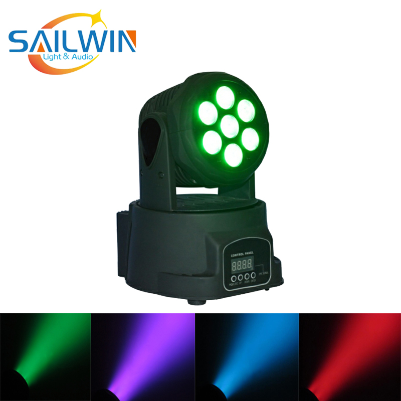 7*8W 4IN1 RGBW LED Stage Light Moving Head Beam Party Lights DMX512 LED DJ Xmas Christmas Sound Active Disco Lighting