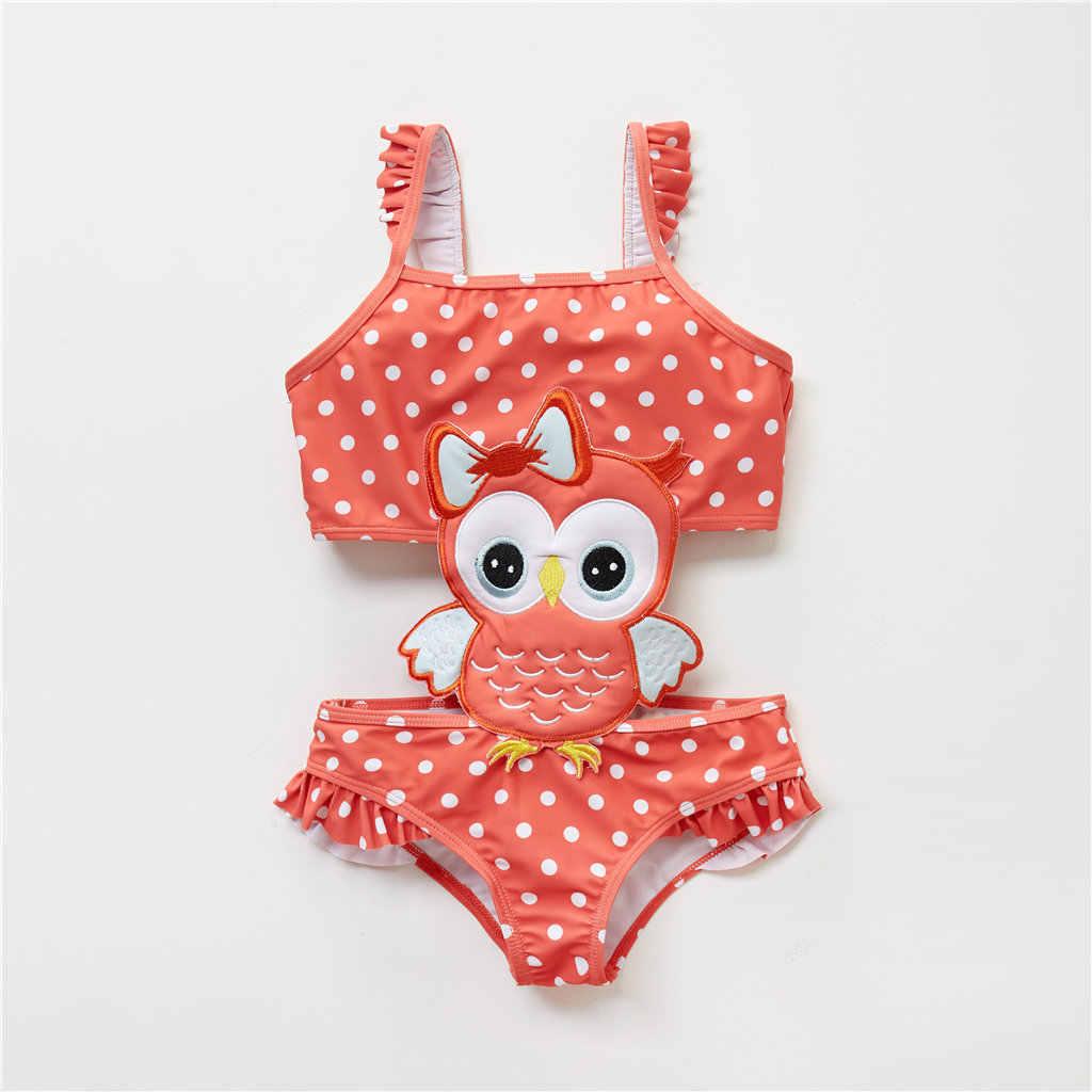 KAVKAS letnia nowa dziewczynka połączona kreskówka pszczoła łabędź strój kąpielowy jednoczęściowy ładny bikini
