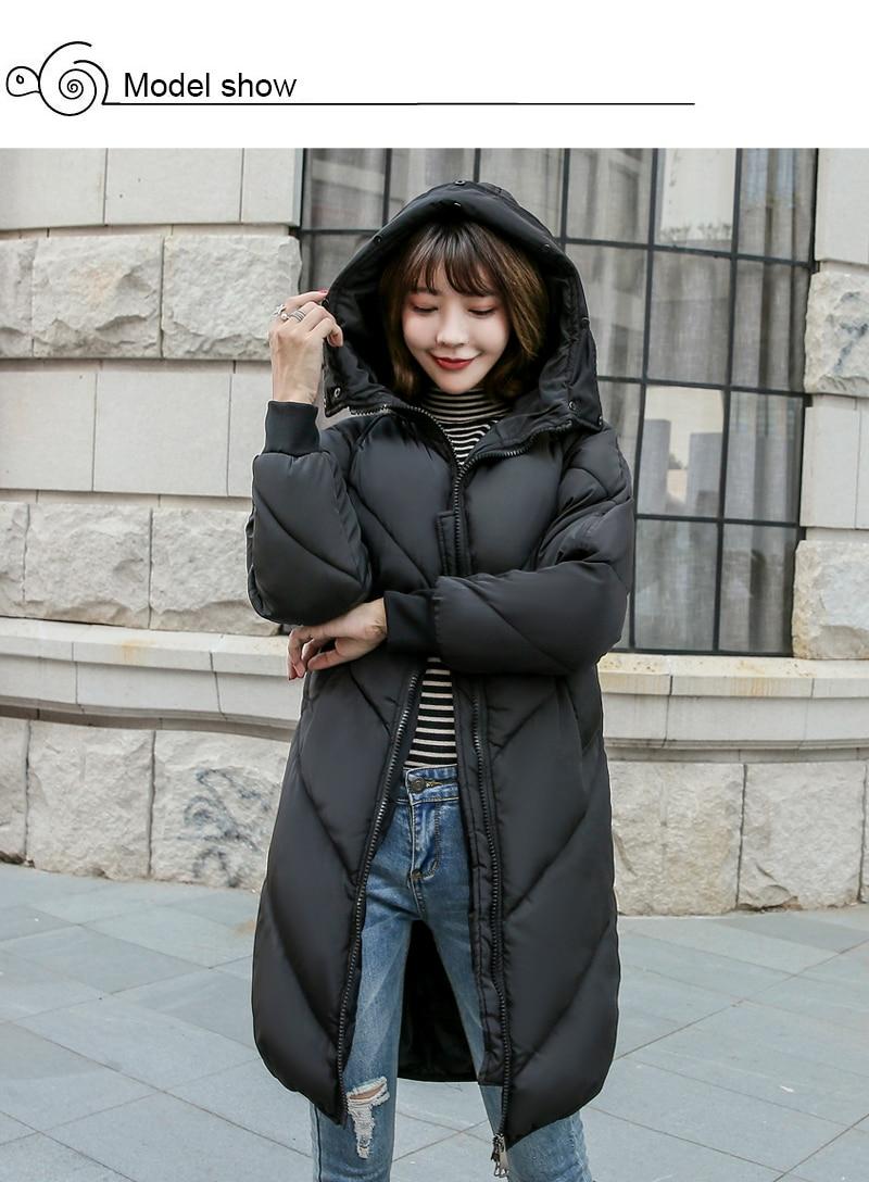 2019 High Quality Winter Jacket Women Hooded Fur Collar Warm Thicken F_A2_3