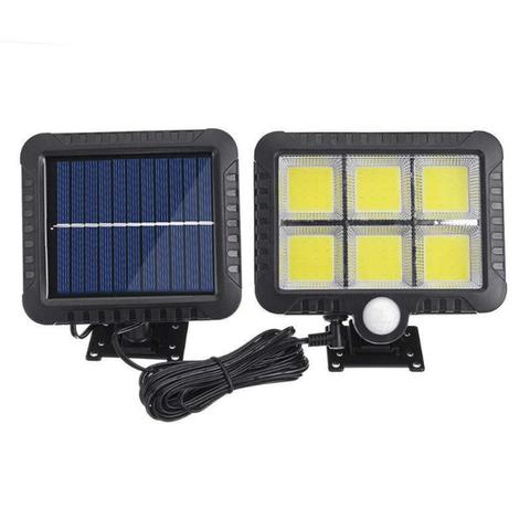 cob 100 120 led solar luz pir